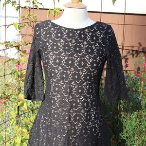 Betsey Johnson Tulle Black Lace Dress